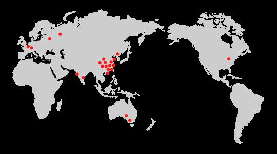 Mapa továren